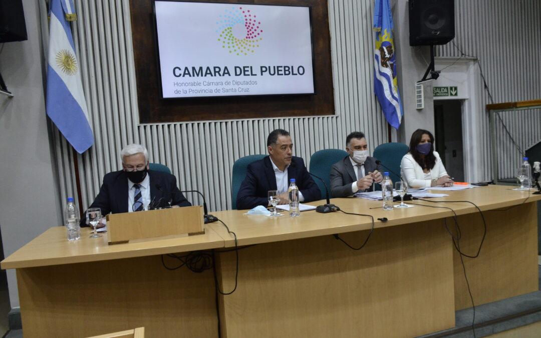 El Jefe de Gabinete de Ministros realizó el informe de gestión del Poder Ejecutivo Provincial en la Cámara de Diputados.