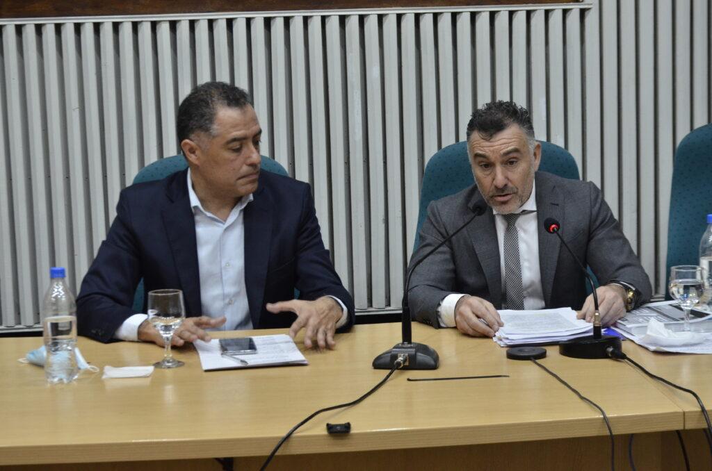 Jefe de Gabinete de Ministros Leonardo Álvarez y el Vicegobernador Eugenio Quiroga