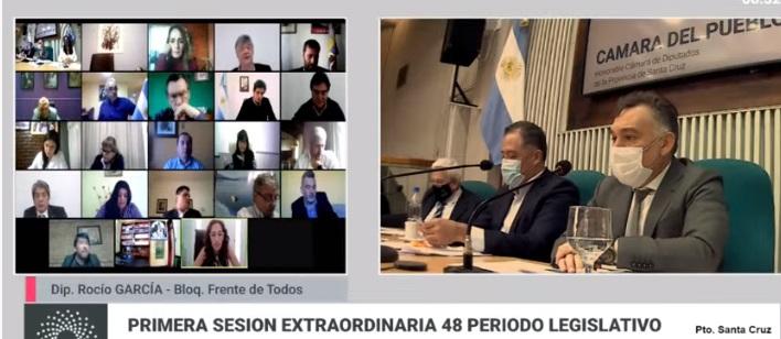 primera sesión extraordinaria en la Cámara de Diputados, donde el Jefe de Gabinete de Ministros Leonardo Álvarez